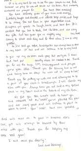 Letters Of Appreciation From Students And Parents The