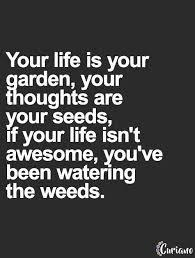 Quotes About Your Life Best Your Life Is Your Garden Your Thoughts Are Your Seeds If Your Life