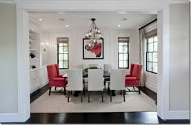 designer dining room. White-dining-room-red-chairs-houzz Designer Dining Room