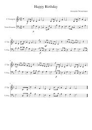 happy trombone sheet music happy birthday trompet and trombone sheet music for trumpet
