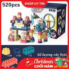 Báo giá ĐỒ chơi trẻ em XẾP HÌNH LEGO cao cấp cho bé trai và gái. Chất liệu  nhựa Nguyên Sinh ABS cao cấp, 520 chi tiết . Giúp phát triển tư