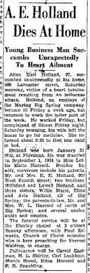 Earl Holland Obit 21 Feb 1937 - Newspapers.com