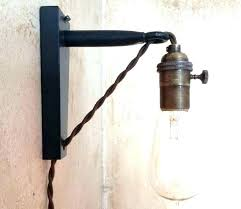 wall mount plug in lamp. Natural Wall Mount Plug In Lights W2658431 Industrial Light Mounted . Lamp P