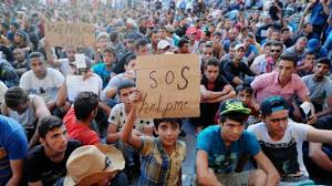 Refugiados piden ayuda en Hungría