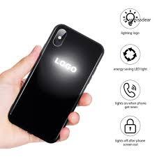 ốp điện thoại Kính Cường Lực Có Đèn Led Cho Iphone X / Xs Max / Xr 7 8 Plus