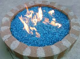 fire pit glass with bahama blue