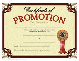 Promotion Certificate Template Grade Promotion Certificate Template Customcartoonbakery Com