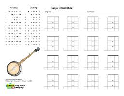 Blank Chord Chart Banjo Printable Blank Chord Boxes Acoustic Music Tv