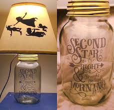 Details. Beautifully hand crafted mason jar lamp inspired by Disney's Peter  Pan.
