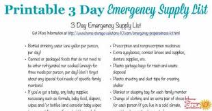 Printable Contact List Delectable Free Printable 48 Day Emergency Supply List