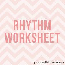 Free Rhythm Worksheet - 6/8 and 3/4 Time Signatures