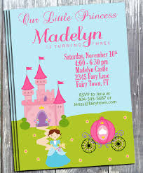Princess Party Birthday Invitation