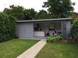 garden office with storage. Open Wide And Enjoy Your Garden With Our Bi-fold Doors To The Room Office Storage