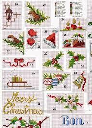 Christmas Cross Stitch Charts Christmas Miniature Cross Stitch Charts Cross Stitch