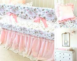 girl nursery bedding girls farmhouse blush pink baby crib