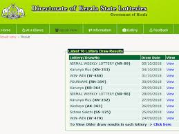 Lotto Chart Book Pdf Kerala Lottery Nava Kerala Nk 01 Results 2018 Date And Time