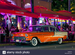 Orange and white two-tone 1955 Chevy Chevrolet Bel Air 4-door ...