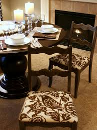 Living Room Chair Cushions How To Re Cover A Dining Room Chair Hgtv