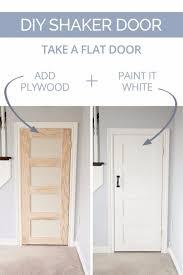 diy home improvement on a budget diy shaker door easy and do it
