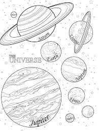 Small Picture Picture Of Solar System For Kids To Color Children Coloring