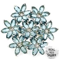 SheType 8.1g Created London Blue Topaz Woman's <b>Real 925 Solid</b> ...