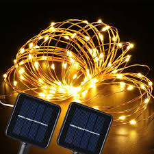 100 White Outdoor Led Solar Fairy Lights Stwind Solar Powered Fairy String Lights 2 Packs 100 Led 33feet 2 Modes Twinkle Waterproof Outdoor Copper Wire Starry String Lights For Garden Patio