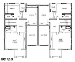 4 Bedroom SemiDetached Duplex  First Floor Plan  Duplex 4 Bedroom Duplex Floor Plans