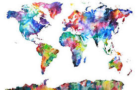High Quality World Map Details About Watercolor Colorful World Map High Quality Canvas Home Wall Art Decor