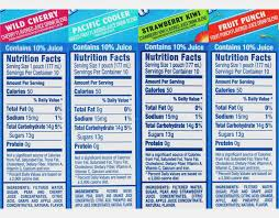 capri sun roarin waters nutrition label dandk