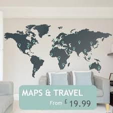 office wall stickers. World Maps Office Wall Stickers