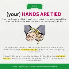best idioms images english idioms english hands are tied learn and improve your english language our classes call