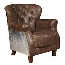 chief leather club chair