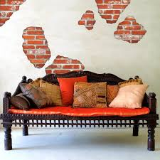 Faux Exposed Brick Amazoncom Faux Brick Breakaway Wall Decals Repositionable Peel
