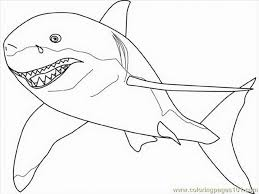 Small Picture Great Great White Shark Coloring Pages 68 With Additional Coloring