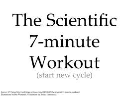 Scientific 7 Minute Workout Plus Big Chart Album On Imgur