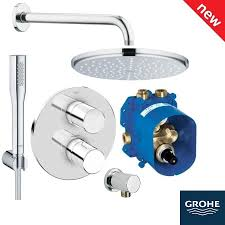 grohe grohtherm 3000 cosmopolitan rainshower biv shower solution pack 4 118323 image to enlarge