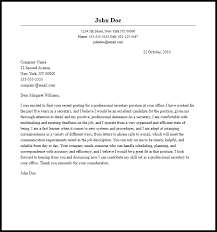 The following guides will show you how to write a. Professional Secretary Cover Letter Sample Writing Guide Resume Now