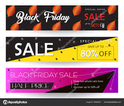 Black Friday Autumn Fall Christmas Halloween Sale Banners With