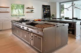 Kitchen Island Open Shelves Contemporary Kitchen Ideas With Stainless Steel Kitchen Island