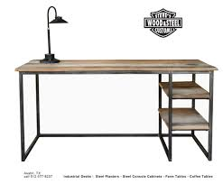 reclaimed office desk. beautiful office view in gallery industrial reclaimed wood desk on office w
