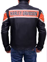 harley davidson biker victory lane leather jacket