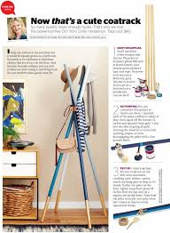 Ribbon Coat Rack DIY Wooden Dowel Coatrack In Redbook Emily Henderson 97