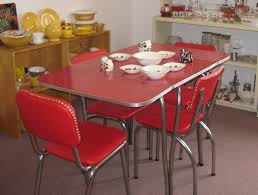image of 1950 s red ed ice dining set faindsblog 1950 kitchen table and chairs picture