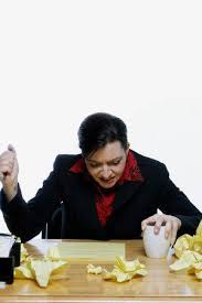 Woman In A <b>Business Suit</b> Stabbing Her <b>Pen</b> In The Air With ...