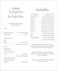 Wedding Ceremony Templates Free Wedding Outline Template Wedding Ceremony Program Outline