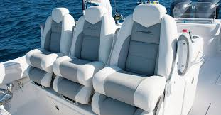 new helm chairs on fishing boats