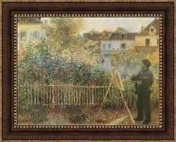 monet painting his garden at argenteuil