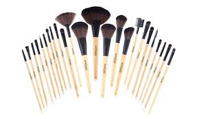marquee makeup brush set with black travel case 24 piece