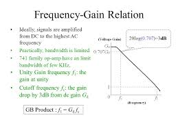 frequency gain relation ideally signals are amplified from dc to the highest ac frequency