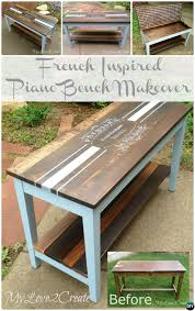 diy french inspired piano bench makeover instructions 20 best entryway bench diy ideas projects